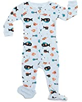 """Leveret Footed Baby Boy """"Sharks Swimming"""" Pajama Sleeper 100% Cotton (Size 6M-5T)"""