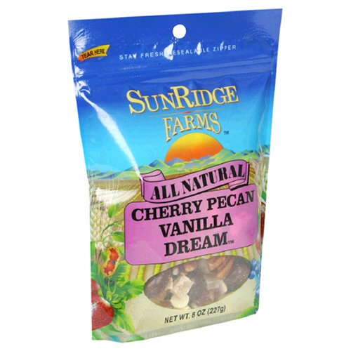 Buy Sunridge Farms Cherry Pecan Vanilla Dream, 8 Ounce Bag (Pack of 6) (SunRidge Farms, Health & Personal Care, Products, Food & Snacks, Snacks Cookies & Candy, Snack Food, Trail Mix)