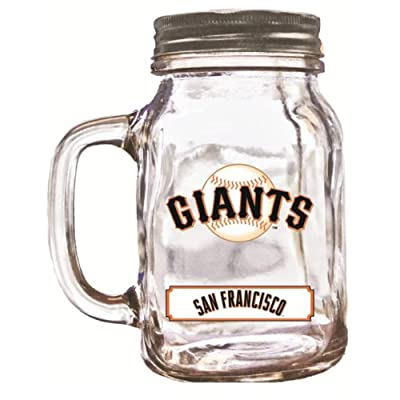 MLB San Francisco Giants Duckhouse 20 Ounce Mason Jar
