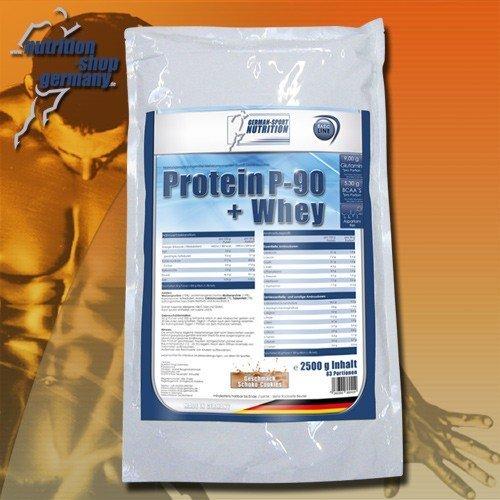 German Sport Nutrition, PREMIUM Protein P-90 + Whey 5 kg Vanille