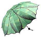 LifEast Corrugated Edge Folding Umbrella Rain/ Sun Block Anti-UV Banana Leaf Umbrella
