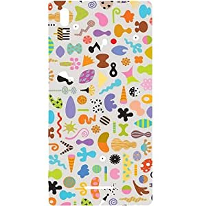 Casotec Icons Design Hard Back Case Cover for Sony Xperia T3
