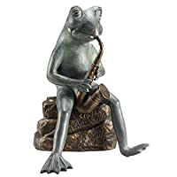 Spi Frog Bluesman With Bluetooth Speaker Garden Sculpture by SPI Home