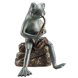 Spi Frog Bluesman With Bluetooth Speaker Garden Sculpture by SPI Home