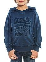 M C S Sudadera Hoodie (Azul Lavado)