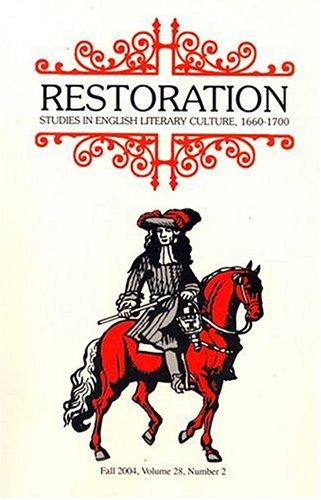 Restoration Studies in English Literary Culture 1600-1700