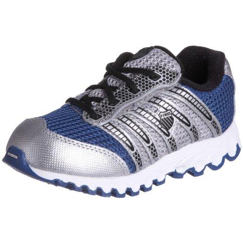 K-Swiss - Sneaker 22443 Bambini e ragazzi, Blu (Blue/silv/blck), 35 (2.5 UK)