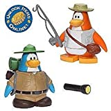 Club Penguin 2 - Fisherman, Camper, Backpack, Flashlight + Coin Opens 2 Items