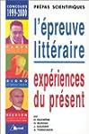 Epreuve litt�raire, 1999-2000 (pr�pas...