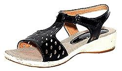 Craze Shop Girls Black Artificial Leather Sandal - 2.5 UK