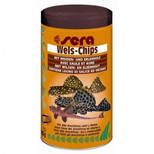 Sera Wels-Chips 500ml, Flockenfutter,