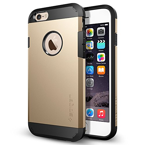 iPhone6S ケース, Spigen® [エアクッションテクノロジー] Apple iPhone 6S  タフ・アーマー (国内正規品) (2015) (iPhone6S, シャンパン・ゴールドSGP11613)