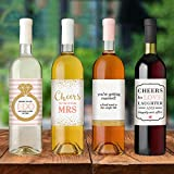 Wine Bottle Labels for Engagement Party Gift, Bridal Shower, Bachelorette Party