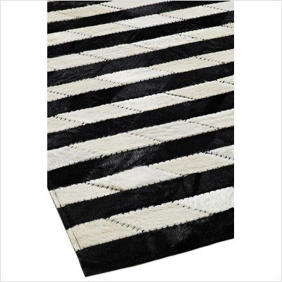 striped Leather Rug