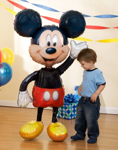 "1 X Lets Party By Party Destination Disney Mickey Mouse Airwalker 52"" Jumbo Foil Balloon"