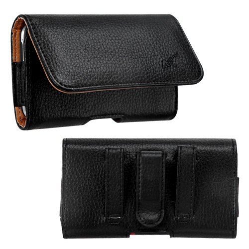 [World Acc] Rugged Heavy Duty Horizontal Pu Leather Case Pouch Cellphone Carrying Case Cover Belt Clip With Secure Belt Loops For: Lg: Us780 (Optimus F7), Ms870 (Spirit 4G), Ms500 (Optimus F6), D500 (Optimus F6), Lg870 (Optimus F7), P769 (Optimus L9), Us7