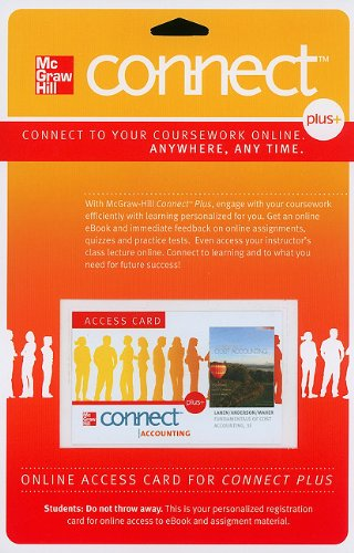 Connect Plus Access Card for Fundamentals of Cost...