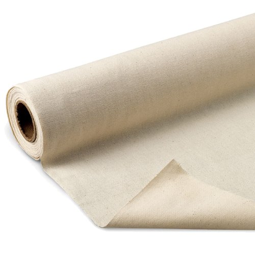 Fine Arts Unprimed Cotton Canvas Roll, 6 yds x 62""