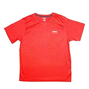 Reebok Men's PlayDry Performance Workout Training T-shirt Red Size XXXLG BIN 64