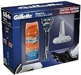 Gillette ProGlide Football Gift Set includes Fusion Razor/ 75 ml Shave Gel/ Razor Stand