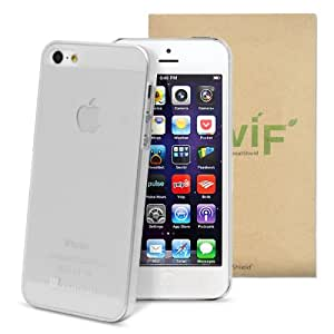 GreatShield Guardian Series Ultra Slim Fit Snap On Protector Case for Apple iPhone 5 (Transparent White)