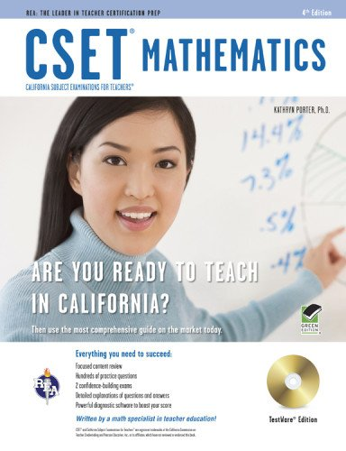 CSET Mathematics Test w/ CD (CSET Teacher Certification Test Prep)