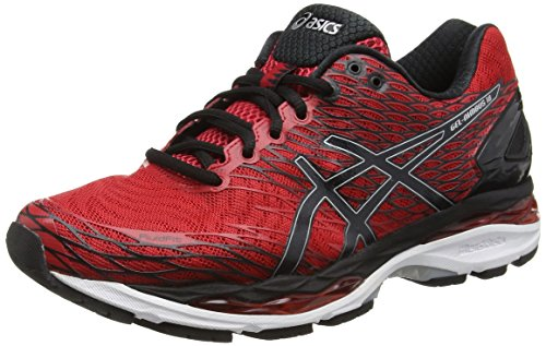 asics-gel-nimbus-18-mens-training-running-shoes-red-racing-red-black-silver-2390-10-uk-45-eu