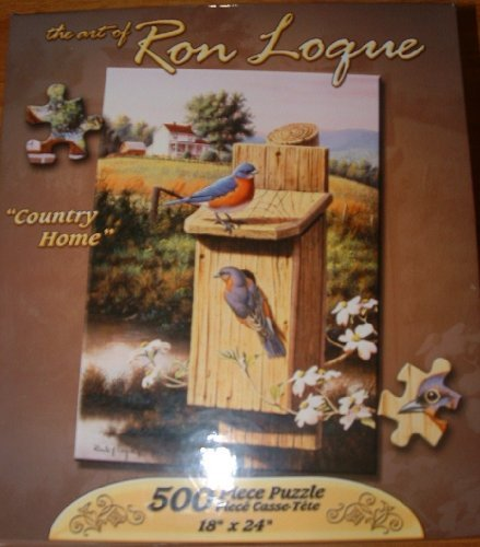 "Country Home 500 Piece Puzzle The Art of Ron Loque 18""X24"""