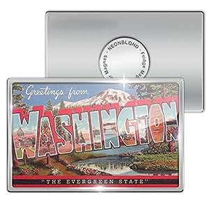 """Amazon.com - Fridge Magnet """"Washington Vintage ..."""