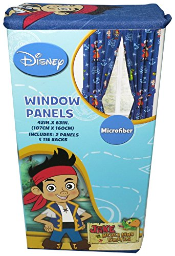 Disney Jake And The Never Land Pirates Anchors Disperse Drapes 42 X 63 Pack Of 2 Panels