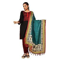 Darbari Women's Dupatta (OL-475_Multi Colour_Free Size)