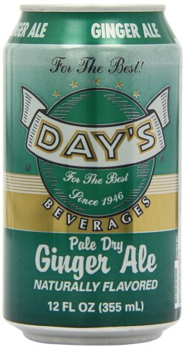 Day's Pale Dry Ginger Ale Cans 12 fl oz/355 ml (Pack of 12)