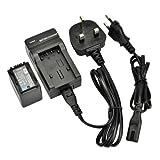 DSTE® VW-VBK360 Rechargeable Li-ion Battery + Charger DC106U for Panasonic VBK360, HDC-TM41, HDC-TM55, HDC-TM80, HDC-TM90, SDR-H100, SDR-H101, SDR-H85, SDR-S50, SDR-S70, SDR-S71, SDR-T50, SDR-T70, SDR-T71, SDR-T76, HC-V10, HC-V100, HC-V100M, HC-V500, HC