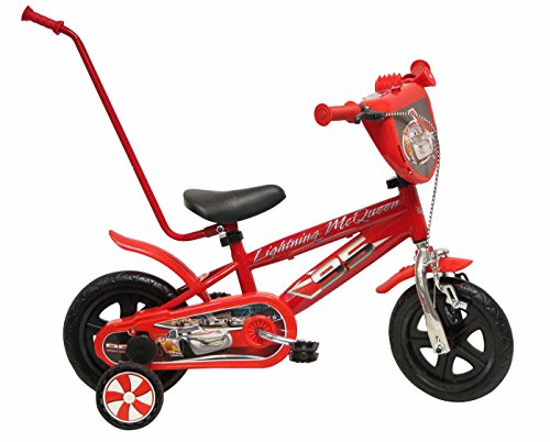 Disney 13170 - Cars Chrome Bicicletta con Canna, 10 Pollici