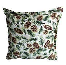 6 X 6 Inch Balsam Filled Pillow. (Small Pine Cones and Small Needles)