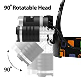 Brightest and Best 5000 Lumen Bright Headlamp Flashlight Torch 3 CREE XM-L2 T6 LED with Rechargeable Batteries for Reading Outdoor Running Camping Fishing Walking - Waterproof Headlight By MsForce
