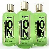 WOW Organics Miracle 10 in 1 Shampoo, 3x300ml