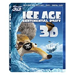 Ice Age: Continental Drift (3D Combo Pack) [Blu-ray]