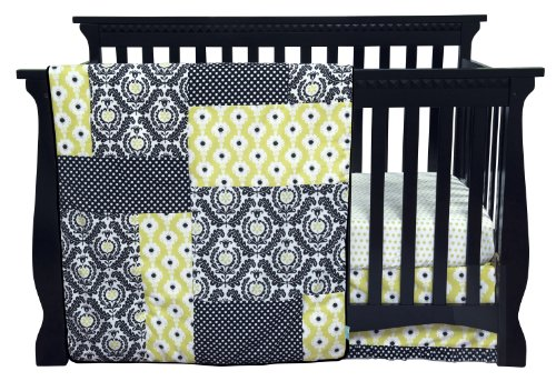 Trend Lab Waverly Rise And Shine Crib Bedding Set, Black/White, 3 Piece front-831182