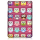 Head Case Kawaii Pink Owl Patterned Snap-on Back Case For Apple iPad mini Wi-Fi