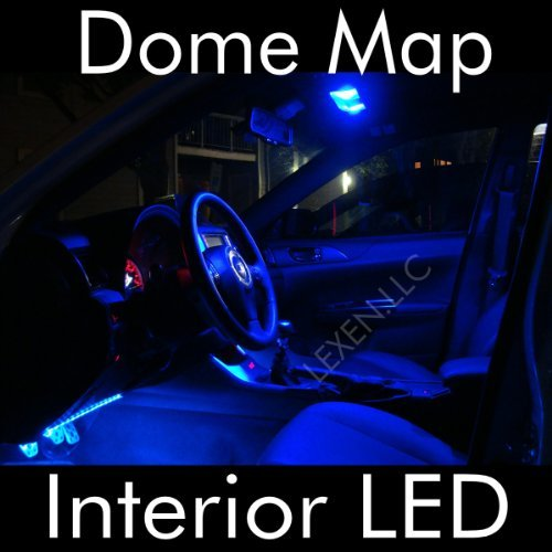 LED BLUE 2X DOME MAP INTERIOR LIGHT BULB 9 SMD CIRCLE PANEL XENON HID LAMP – FITS ALL VEHICLES image