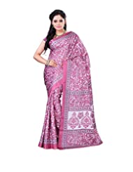 Surat Tex Pink Crepe Daily Wear Beautiful Sarees With Blouse Piece