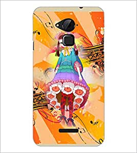 PrintDhaba Sweet Girl D-3053 Back Case Cover for COOLPAD NOTE 3 LITE (Multi-Coloured)