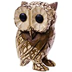 Ww Medium Wooden Carved Owl W