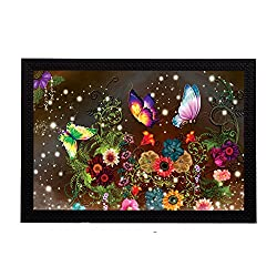 eCraftIndia Glowing Floral Satin Matt Textured UV Art Painting