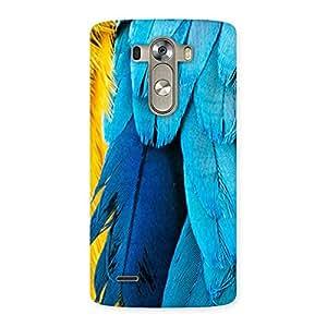 Cute Blue Feathur Back Case Cover for LG G3