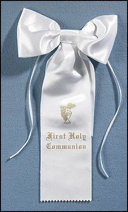 Boys First Holy First Communion Arm Bow