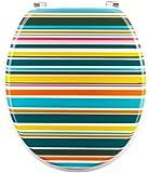 Mebasa MYBWCSB19 Abattant WC multicolore à rayures de myBath