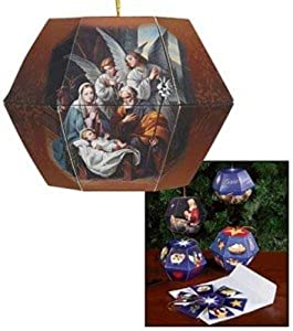 Blessed Art Thou Nativity of Christ Pop Up Lantern Ornament Greeting Card w Mailing Envelope