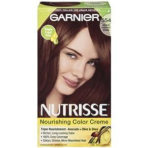 Amazoncom  Garnier Nutrisse Permanent Haircolor 554 Medium Chestnut Brown